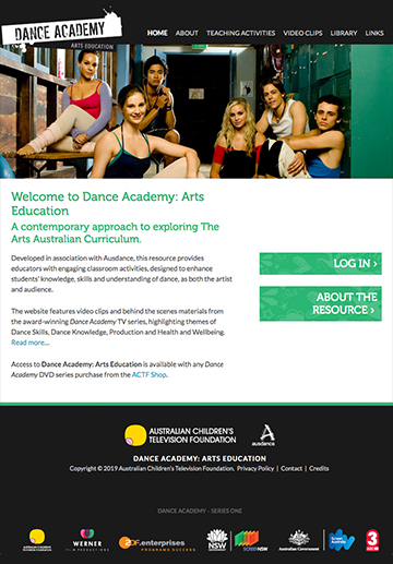 Dance Academy: Arts Education - Website Access